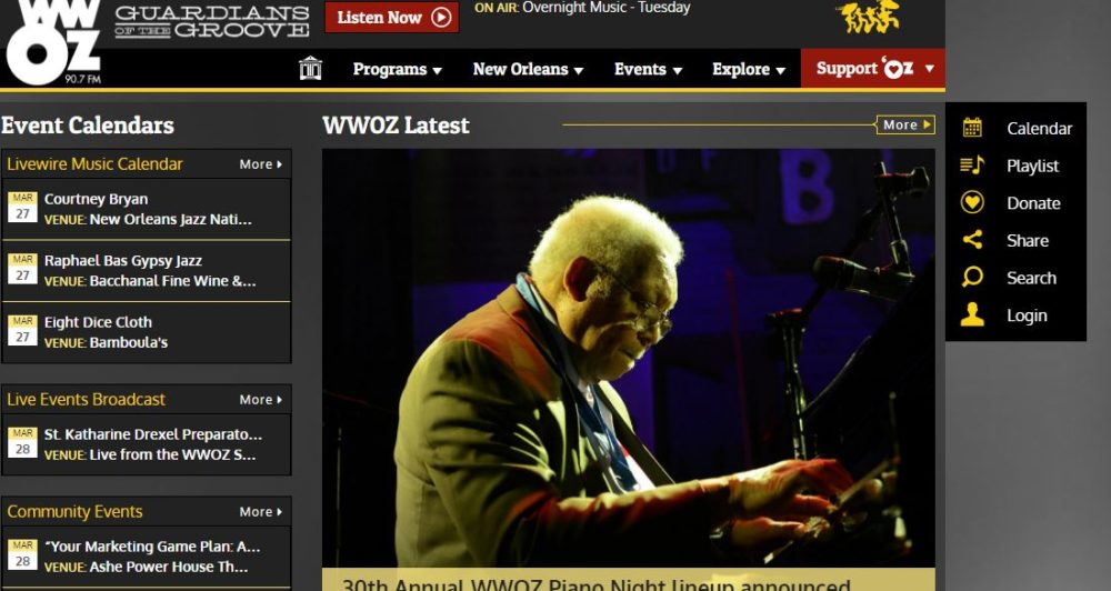 WWOZ 90.7 FM — New Orleans